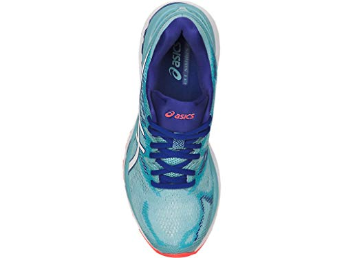ASICS Women's Gel-Nimbus 20 Running Shoe, porcelain blue/white/asics blue, 5.5 Medium US by ASICS (Image #2)