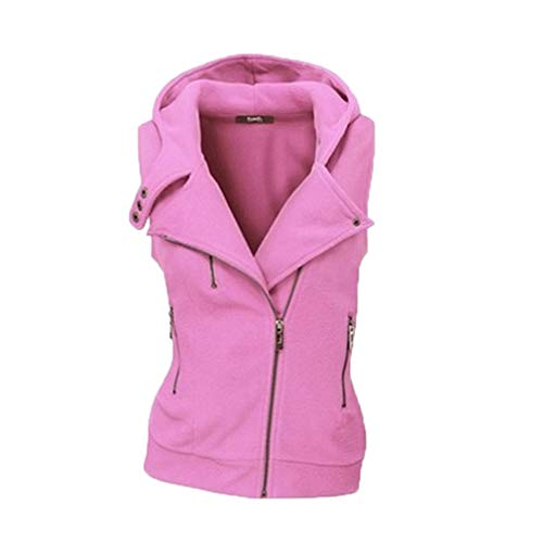 Check Front Turn Office Women Down Jacket Ladies Pink Sleeveless Casual Neck Open Waistcoat Autumn Mxssi Cardigan Vest wPFHH1