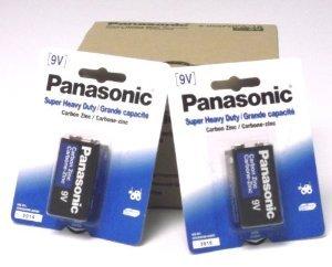 1 Pack Panasonic Super Heavy Duty 9V Batteries Retail Packaging