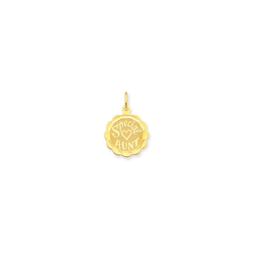 14K Special Aunt Charm   Measures 22.9x15.6mm   JewelryWeb
