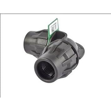 Syr Brico Fitting Codo 90º D.32, Negro, 11x5x4 cm