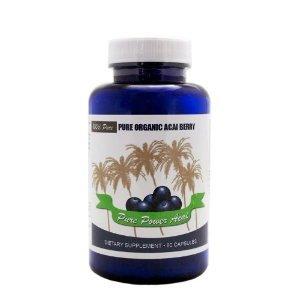 Acai Berry Supplément, 1200mg de 100% Baies d'açai certifié bio, Made in USA, 30 Day Supply