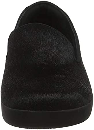 FitFlop Audrey Faux-Pony Smoking Slippers, Zapatillas Bajas Mujer, 33