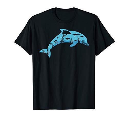Blue Dolphin T Shirt Fishes in the Ocean Women Men Kids