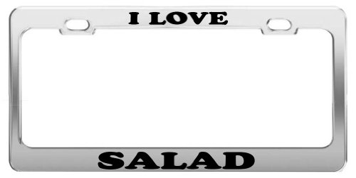 I LOVE SALAD Tag License Plate Frame Gift Car Accessory