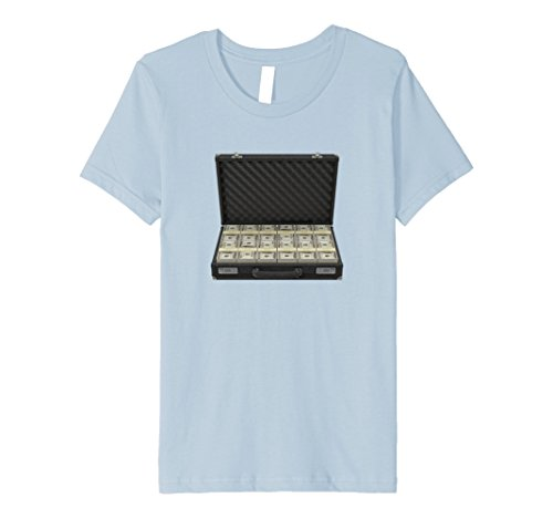 Kids Bank Capital Briefcase Fortune T Shirt 12 Baby Blue