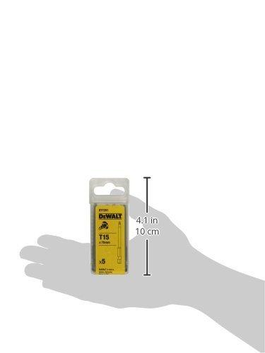 Dewalt DT7291-QZ Embout torsion T15 Set de 5 Pi/èces Argent 70mm