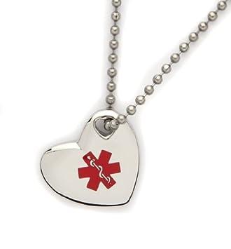 Amazon medical id heart pendant diabetes type 2 health medical id heart pendant diabetes type 2 aloadofball Images