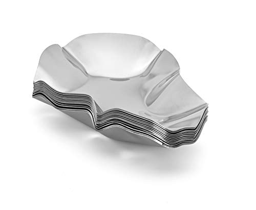 (Outset 76471 Stainless Steel Grillable Oyster Shells, Set of 12,)