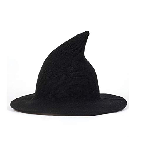 Women Wool Sharp Pointed Witch Hat for Halloween Christmas Costume -