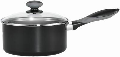 T-Fal/Wearever A7972374 Get-A-Grip Black 2-Qt. Aluminum Sauce Pan