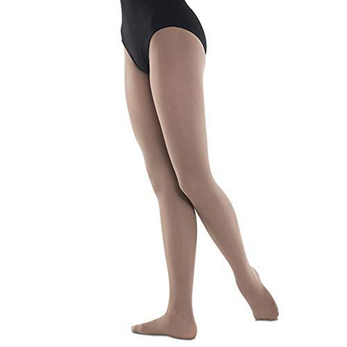 - DanzNmotion by Danshuz Girl's Foot Tights 6X-7 Brown