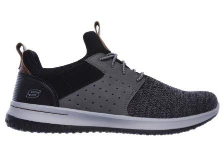 Skechers Men's Delson Camben Slip On Sneaker Blk/Gry 12 M US