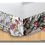 Patch Magic DRLFIOR Finch Orchard Luxury King Bedskirt, (Cabin Bed Ruffle Bedskirt)