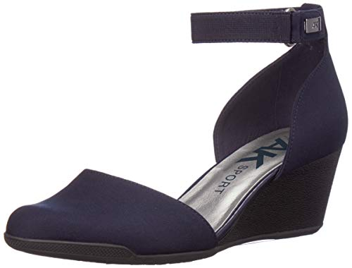 Anne Klein AK Sport Women's Touch Wedge Pumps, Navy, 7 M US