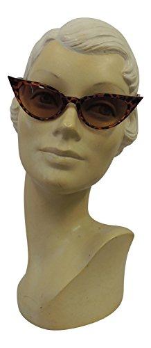 gafas de ojo nbsp;estilo sol de gato nbsp;mujer Fashion Marrón UV400 1950 Vintage 50s Retro de f0qBTW