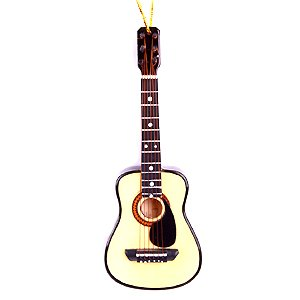Broadway Gifts String Guitar W/Pick Guard Ornament