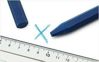 Dicoal Jeu craie sans /étiquette hexagonal /ø 12/x 120/mm Bleu 12U