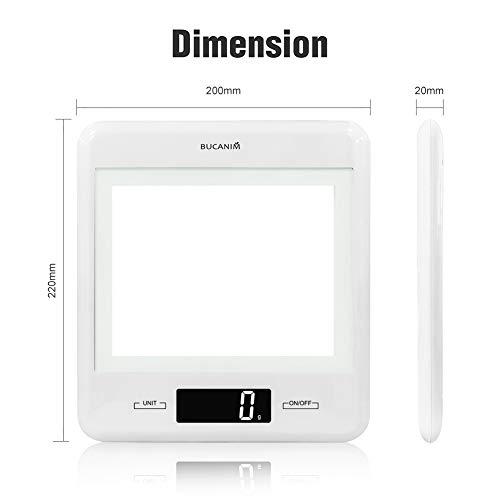 Digitale Küchewaage mit DIY Fotorahmen, Groß LCD-Display und optionaler Ziffernfarbe, Batterien inklusive 1g-5KG / 11LB(Orange)
