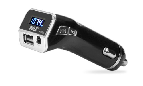 Pyle PLMP2A FM Radio Transmitter with USB Port and AUX Input Car Lighter Adaptor