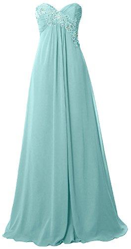 Long Evening Chiffon Empire MACloth Gown Party Prom Aqua Strapless Women Dress Formal O6zqxYwq