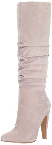 Steve Madden Women's Carrie Fashion Boot, Grey Suede, 8.5 M US by Steve Madden