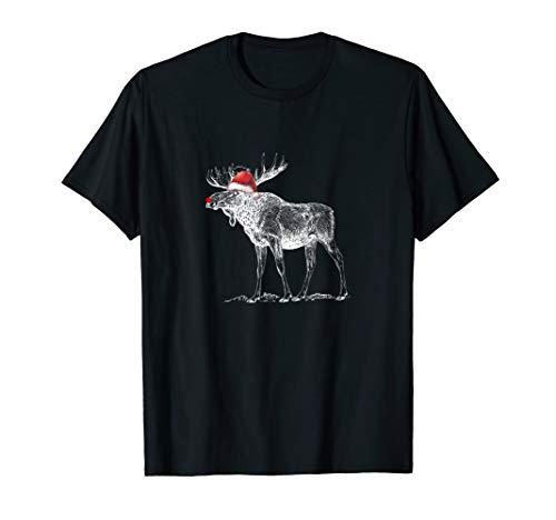 (Moose with Santa Hat Christmas Sweet Xmas Pajama)