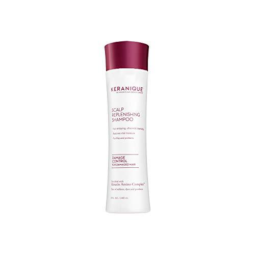 Keranique Scalp Stimulating Keratin Shampoo Damage Control for Thinning Hair, Hair Growth | Keratin Amino Complex, Free of Sulfates, Dyes and Parabens, 8 Fl Oz (Best Follicle Stimulating Shampoo)