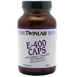 400 Dry Caps - TWINLAB E-400 IU DRY,YEAST FREE, 100 CAP