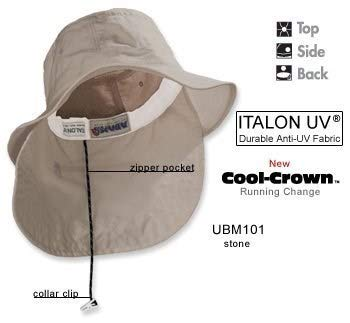Whispering Pines Sportwear UBM101 Extreme Vacationer Bucket Cap With Neck Cape, Khaki, Large from Adams