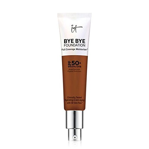 2018 NEW FORMULA -DEEP - IT Cosmetics Bye Bye Foundation Full Coverage Moisturizer with SPF 50+. 1 oz-30 ml