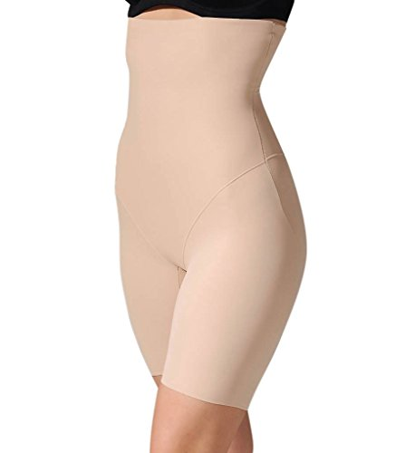 Long Leg Shapewear (Miraclesuit Extra Firm Control Wonderful Edge High-waist Thigh Slimmer, 2XL, Nude)