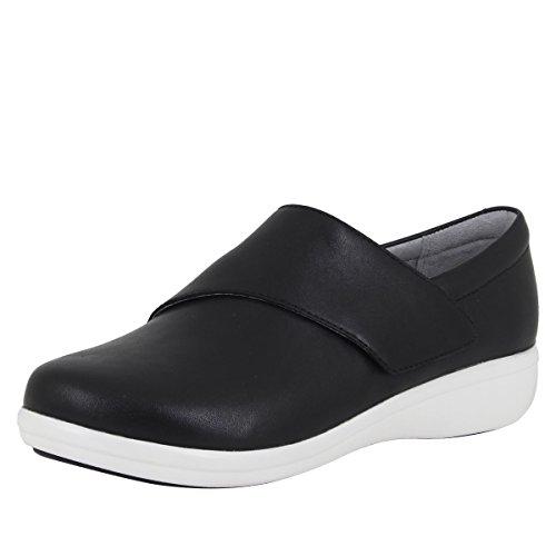 TRAQ BY ALEGRIA Qin Womens Smart Walking Shoe Black Nappa 8 M US