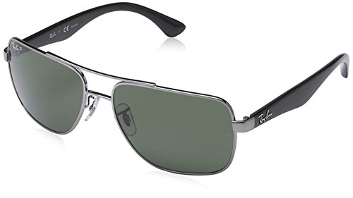 Ray Ban RB 3483 BLACK 004/58 Sunglasses RB3483 - 60mm (Ray Ban Square)