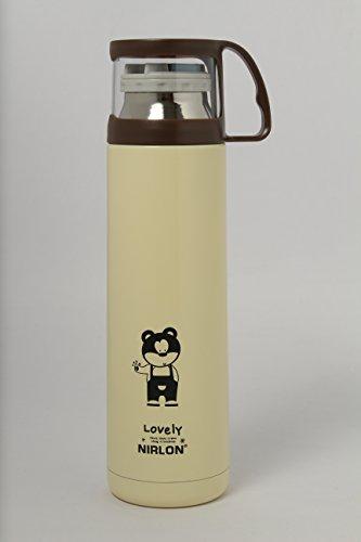 Nirlon Stainless Steel Flask 450 ml SilverCream
