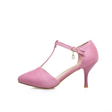 KYDJ @ Mujer-Tacón Stiletto-Otro-Tacones-Vestido-Semicuero-Negro Amarillo Rosa Beige , beige , us9.5-10 / eu41 / uk7.5-8 / cn42