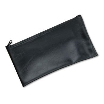 Leatherette Zipper Wallet - MMF Industries™ Leatherette Zippered Wallet BAG,ZIPPER,BANK,VINYL,BK (Pack of20)
