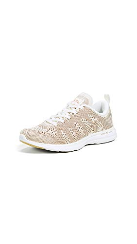 APL: Athletic Propulsion Labs Women's Techloom Pro Sneakers, Pristine/Rose Gold/White, 9 M US