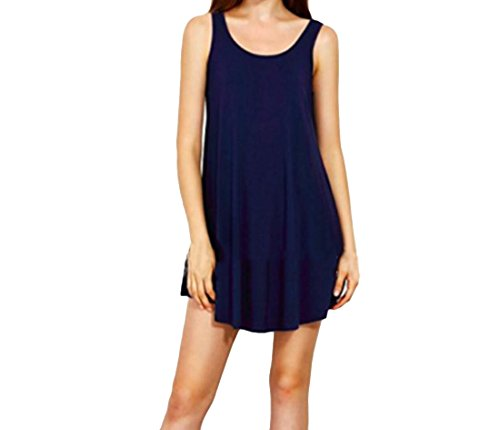 1 Round Sexy Pure Neck Fairy Casual Sundress Stylish Womens Color Coolred 5nYxv7q