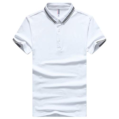 Mens Linen Henley Shirts 3/4 Sleeve Summer Beach V Neck Button Up Hippie Casual Work Tops White