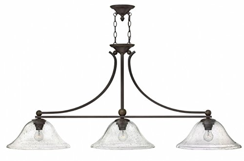 Bolla Transitional Chandelier - Hinkley 4666OB-CL Transitional Three Light Linear Chandelier from Bolla collection in Bronze/Darkfinish,