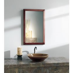 th City Collection Surface Mounted Mirrored Cherry Bath Cabinet, 26-1/2 by 5-1/4-Inch ()