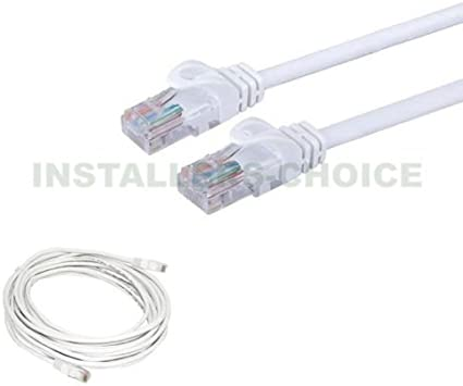 15 ft Cat5 Cable CAT5E RJ45 LAN Network Ethernet Router Switch White Patch cord