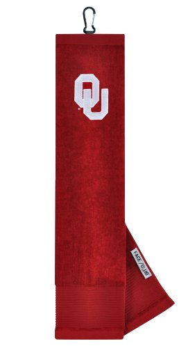 Oklahoma Sooners Face/Club Embroidered Towel