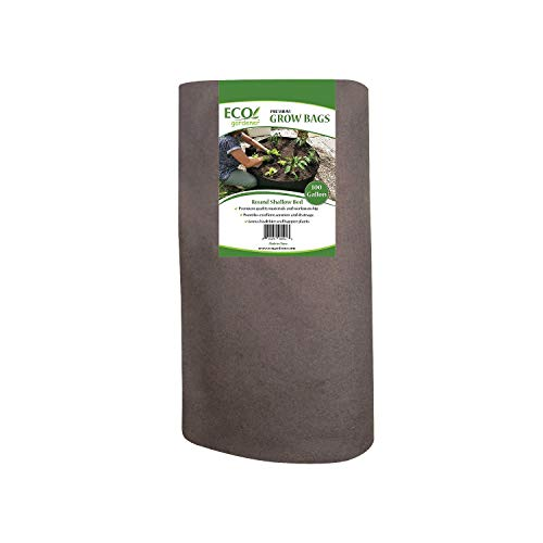 ECOgardener Raised Bed Fabric Planter Grow Bags 100 Gallon Deep Bed (Best Things To Grow Hydroponically)
