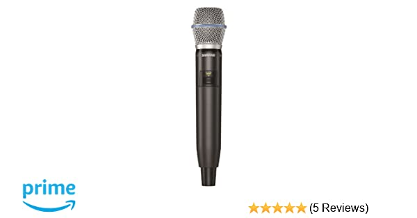 Amazon.com: Shure GLXD2/B87A Handheld Transmitter with Beta ...
