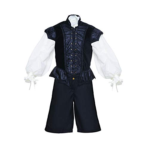 - Men's Renaissance 3 Piece Ren Faire Doublet Costume Game of Thrones Cosplay (Large, Black)
