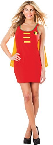 Batwoman Costume For Adults (Rubie's DC Comics Justice League Superhero Style Adult Dress with Cape Robin, Red, Large Costume)
