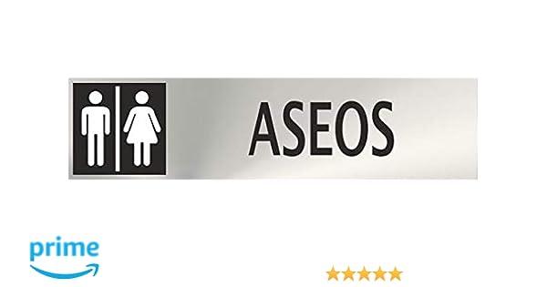 MovilCom® - Señal de acero inoxidable ASEOS 200X50mm señal ...