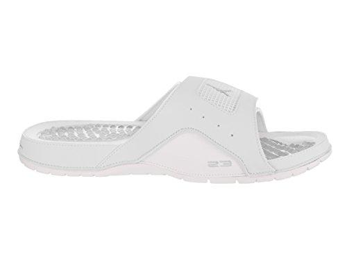 Jordan Nike Mens Hydro IV Retro Sandal Off White/White/Metallic Silver Oj78Ios